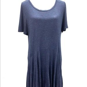 Chelsea and Theodore Blue Asymmetrical Dress